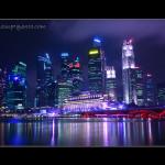 Marina Bay Singapore Malam Hari